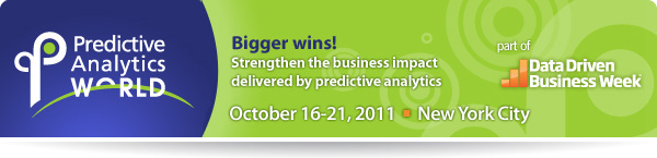 Predictive Analytics World New York October 2011
