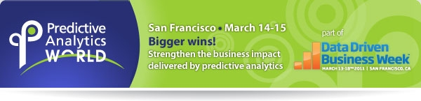 Predictive Analytics World March 2011 in San Francisco