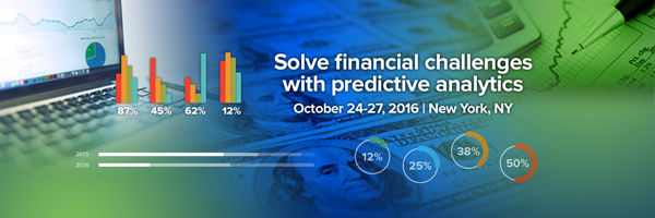 NEW Predictive Analytics World for Financial Services - Click here to learn more
