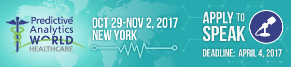 Predictive Analytics World for Healthcare: New York 2017