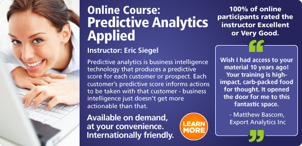 Predictive Analytics World Online Training