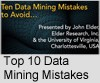 Top 10 Data Mining Mistakes