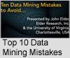 Top 10 Data Mining Mistakes