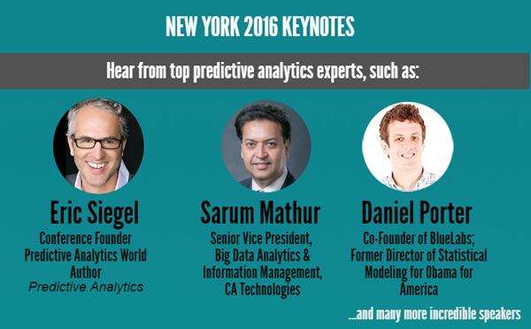 Predictive Analytics World NY Keynotes
