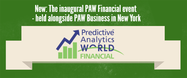 Check out Predictive Analytics World for Financial Services