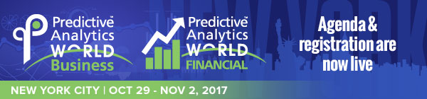 Predictive Analytics World NYC – Agenda announcement!