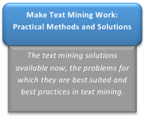 Workshop: Making Text Mining Work: Practical Methods and Solutions