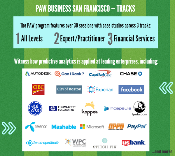 Predictive Analytics World San Francisco Agenda