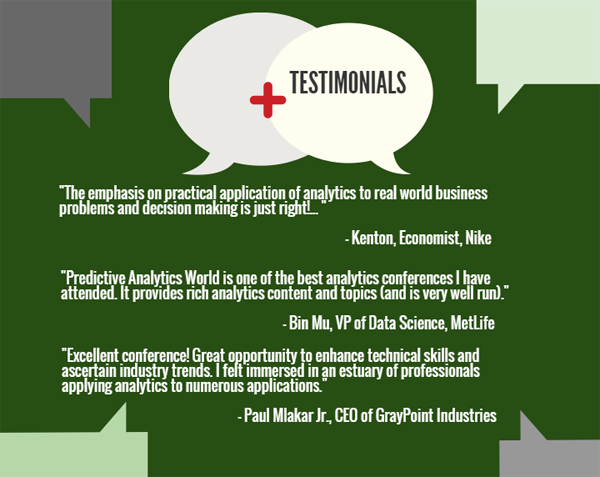 Predictive Analytics World Testimonials