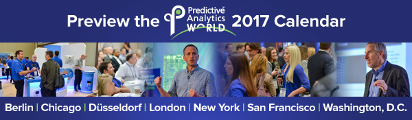 Predictive Analytics World Calender - Check out upcoming PAWs