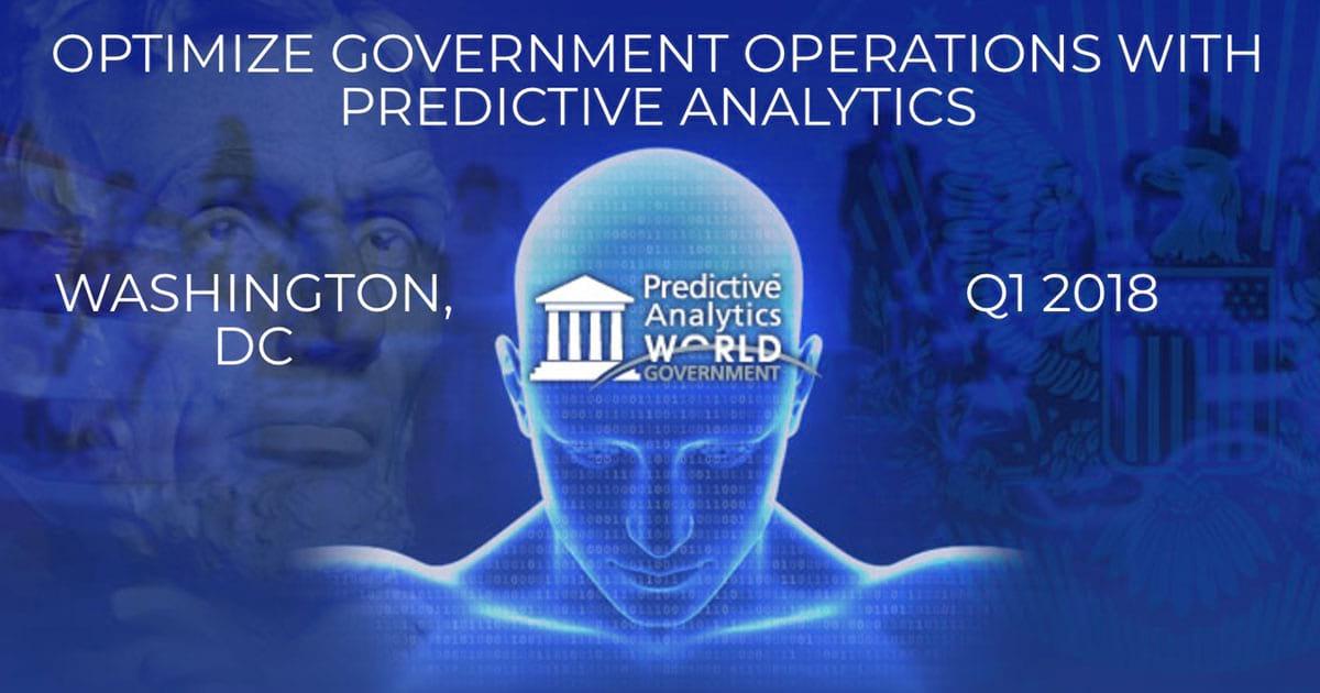 Predictive Analytics World for Government Washington, DC